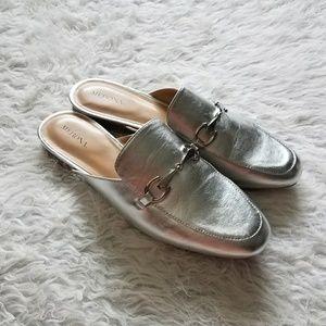 Merona silver slip ons mules size 9.5